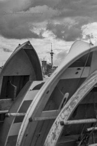 Auckland City through the dinghy