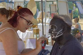 Face painting, Boulevard of Arts Fiesta in Orewa, Auckland
